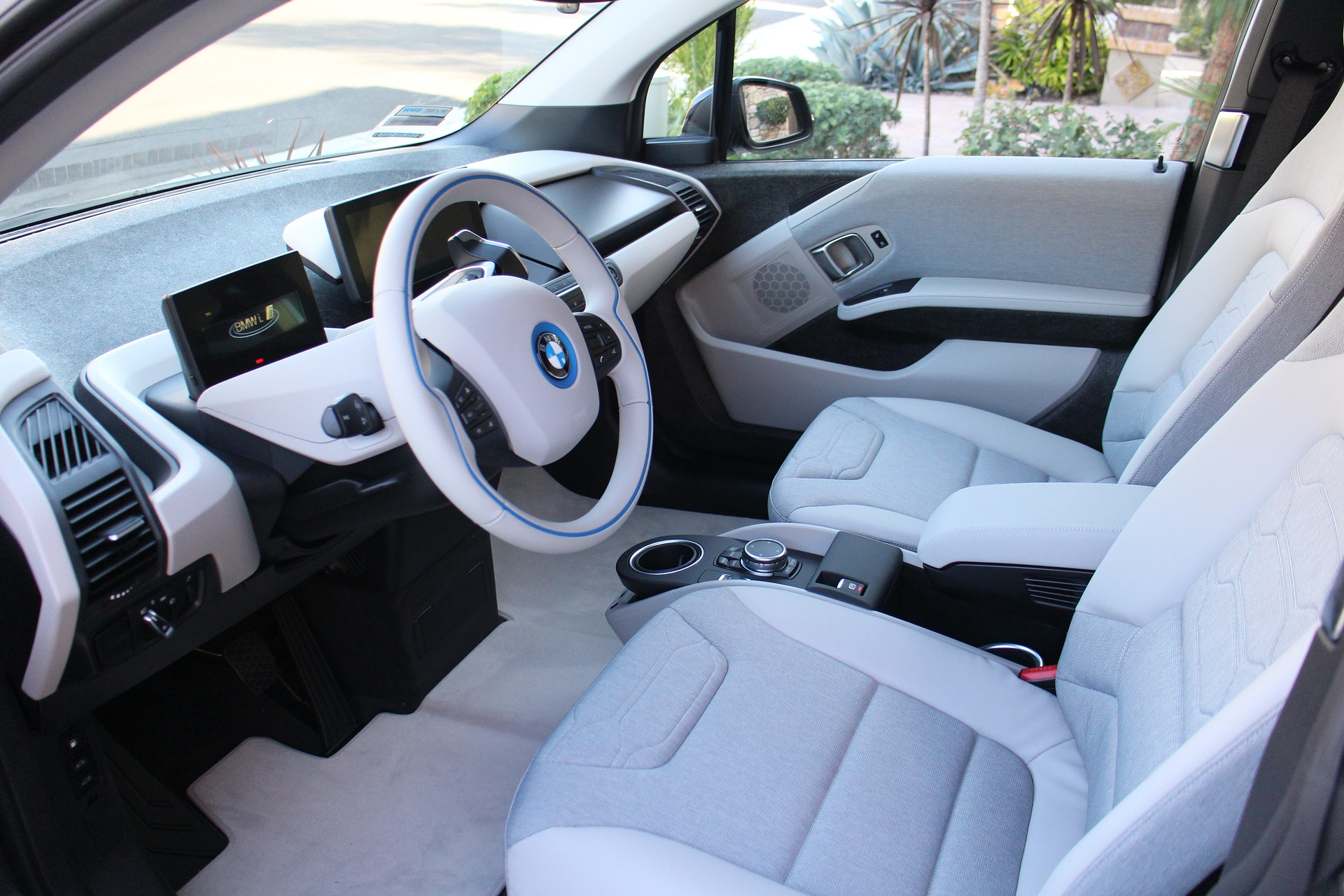 Interior Detailing of White BMW