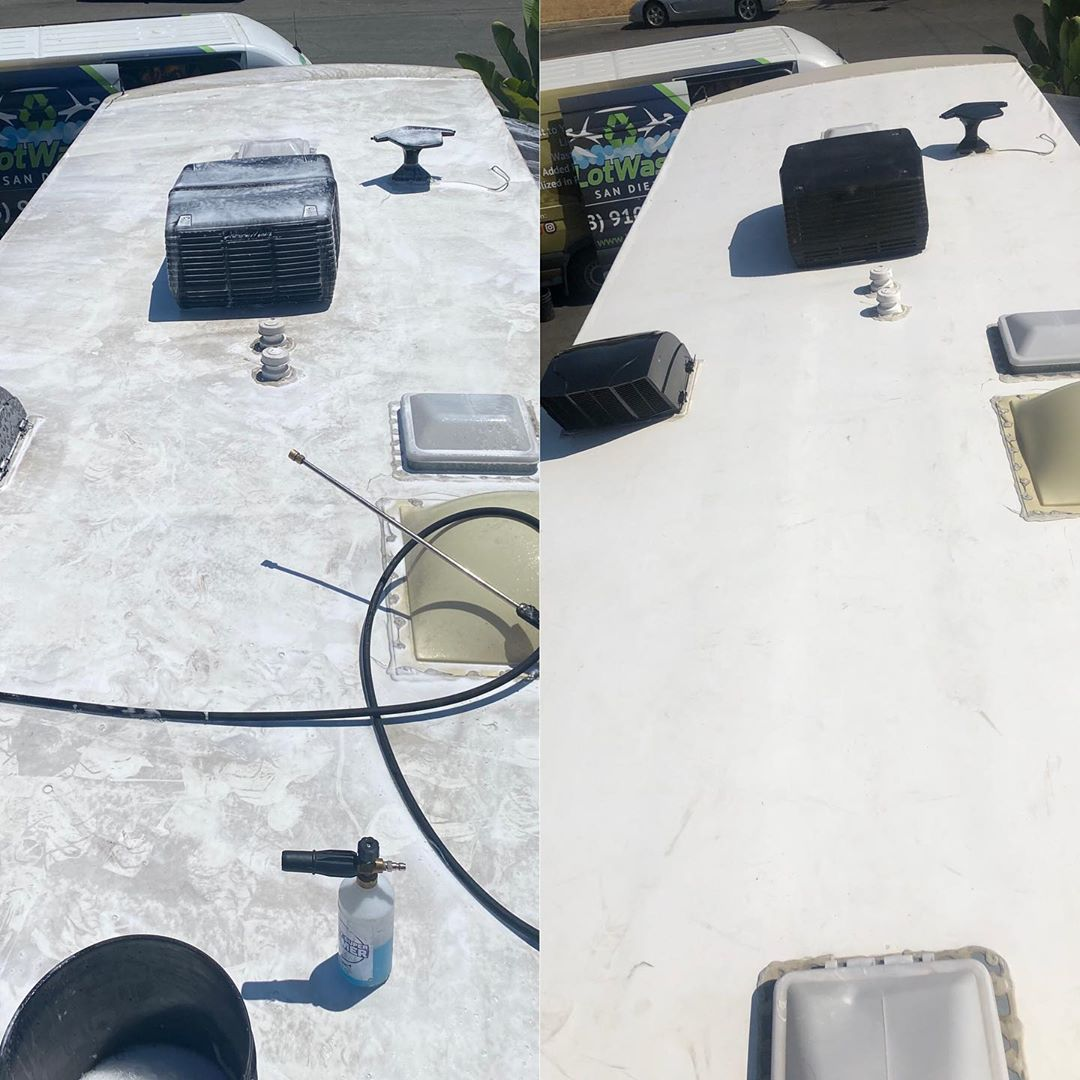 RV Detailing Before & After by LotWash in Carlsbad